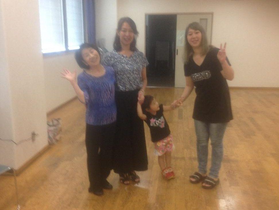 「夏休みワールドダンス体験会」にちっちゃいお友達が遊びに来てくれました