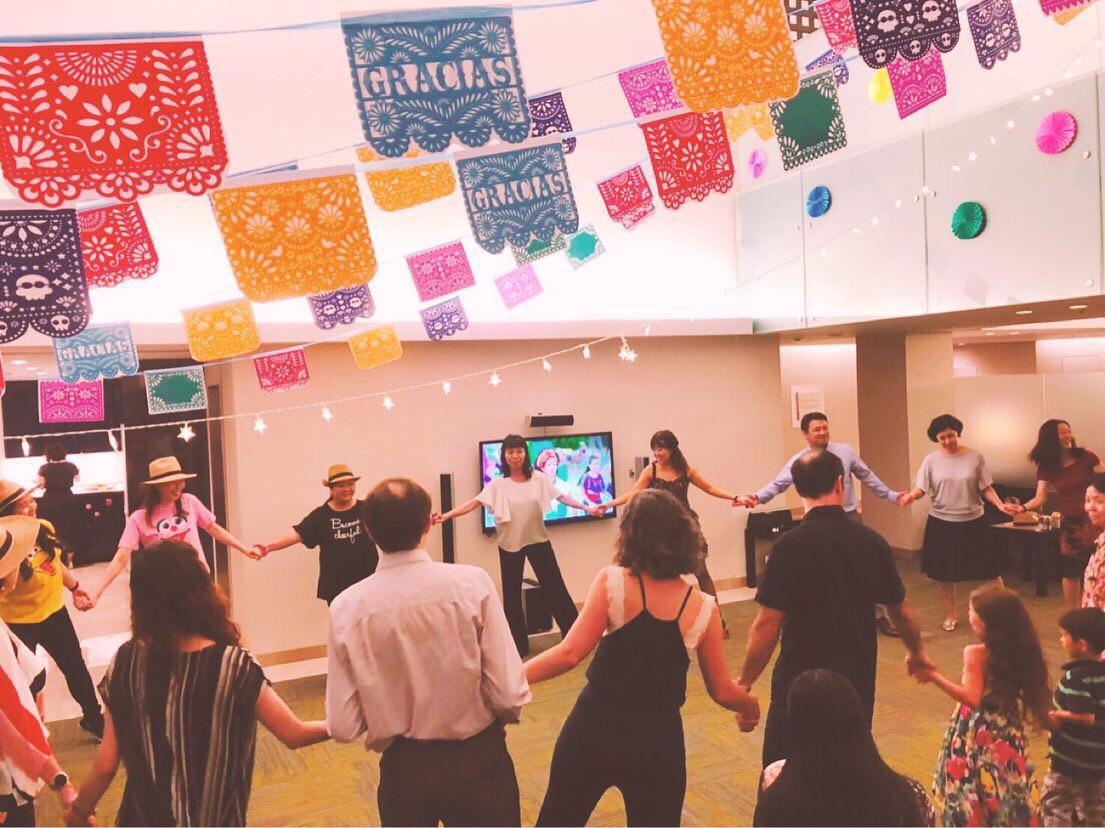 8月9日、ぱ・ど・あーるダンスクラブからサルサ講師を派遣しました